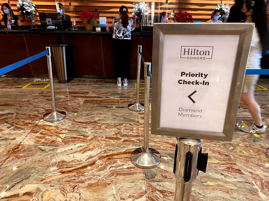 Hilton Diamond Check in Queue
