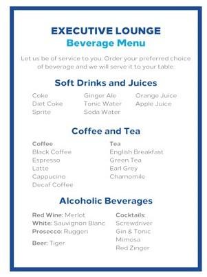 Hilton Lounge Drinks