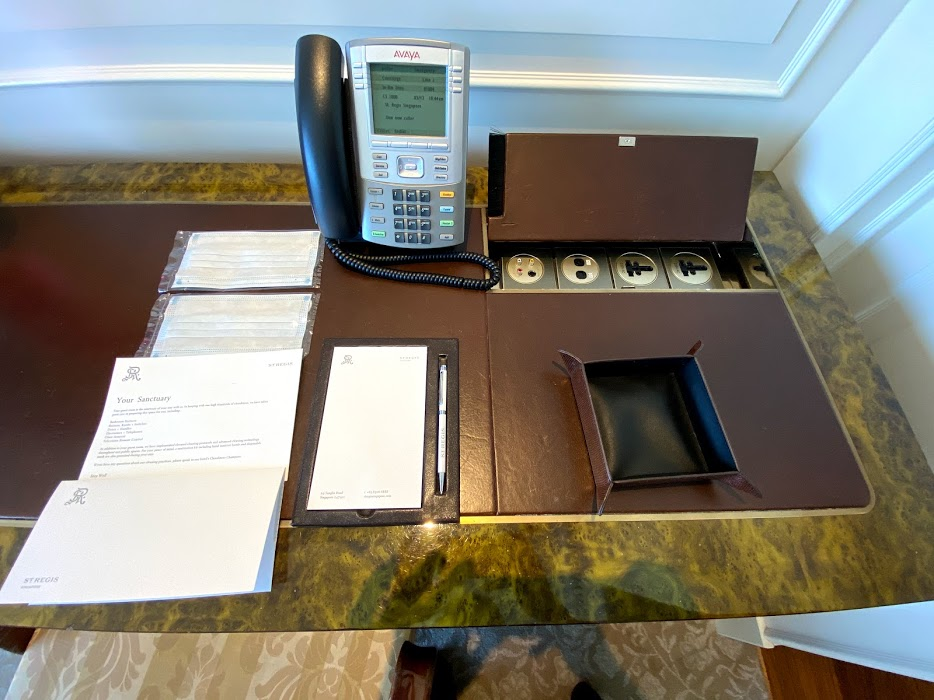 St Regis working desk