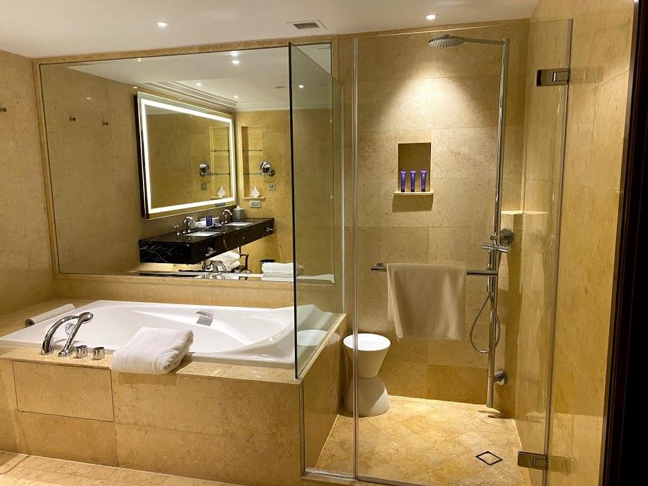 The Fullerton Hotel toilet shower