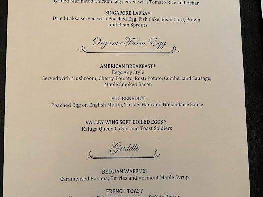 Valley Wing Breakfast Menu 2
